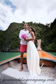 Destination wedding bridal party.