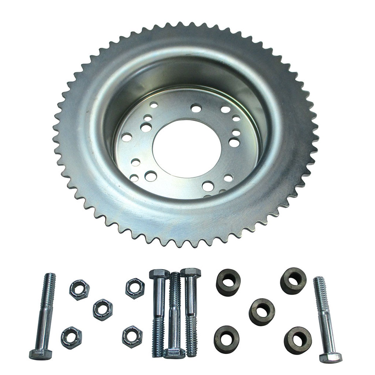 """60 Tooth 35 Chain Sprocket w/4-1/2"""" Drum for Astro Wheel w/ Hardware"""