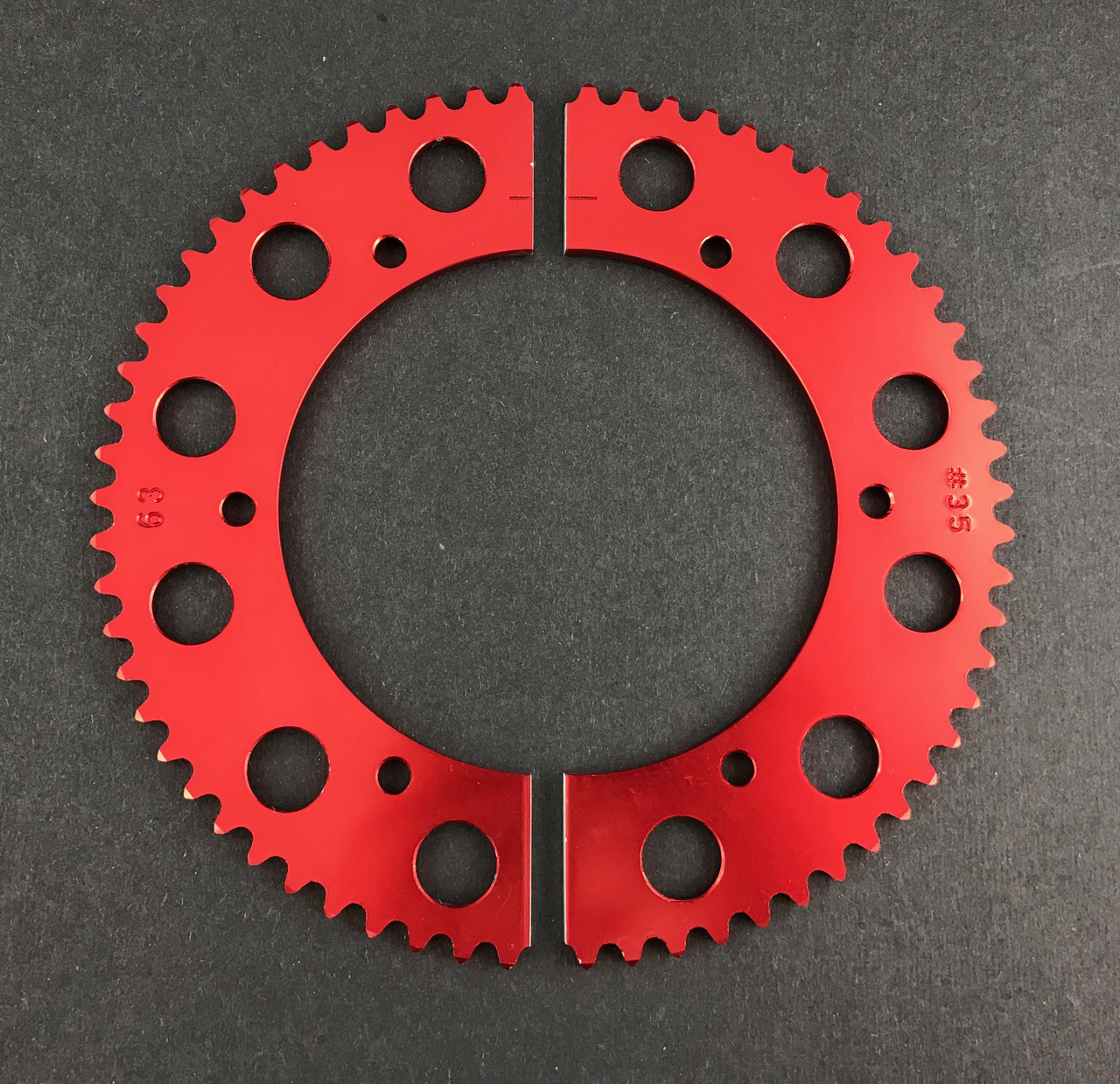 Pit Parts Split Sprocket - 66 Tooth - 35 Chain
