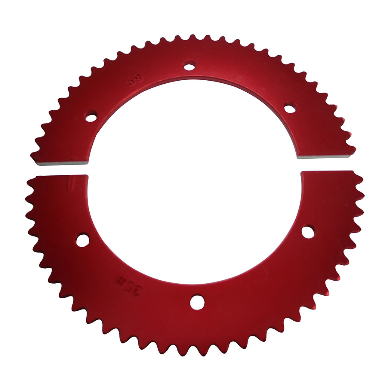 Pit Parts Split Sprocket - 59 Tooth - 35 Chain