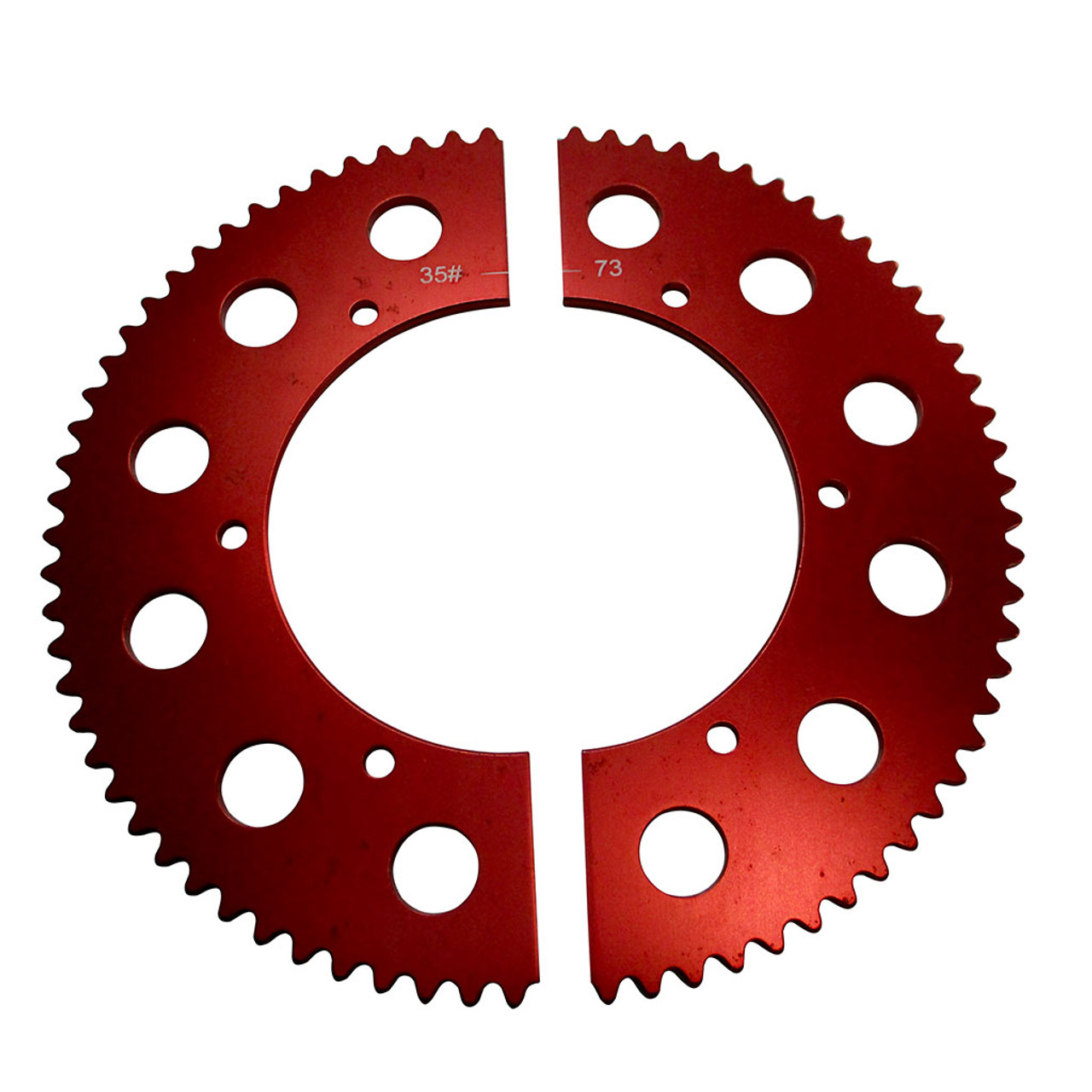 Pit Parts Split Sprocket - 73 Tooth - 35 Chain