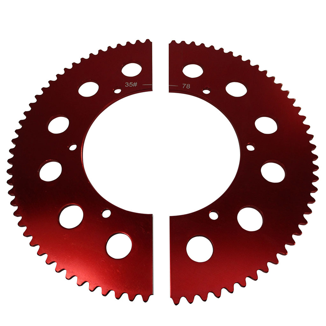 Pit Parts Split Sprocket - 78 Tooth - 35 Chain