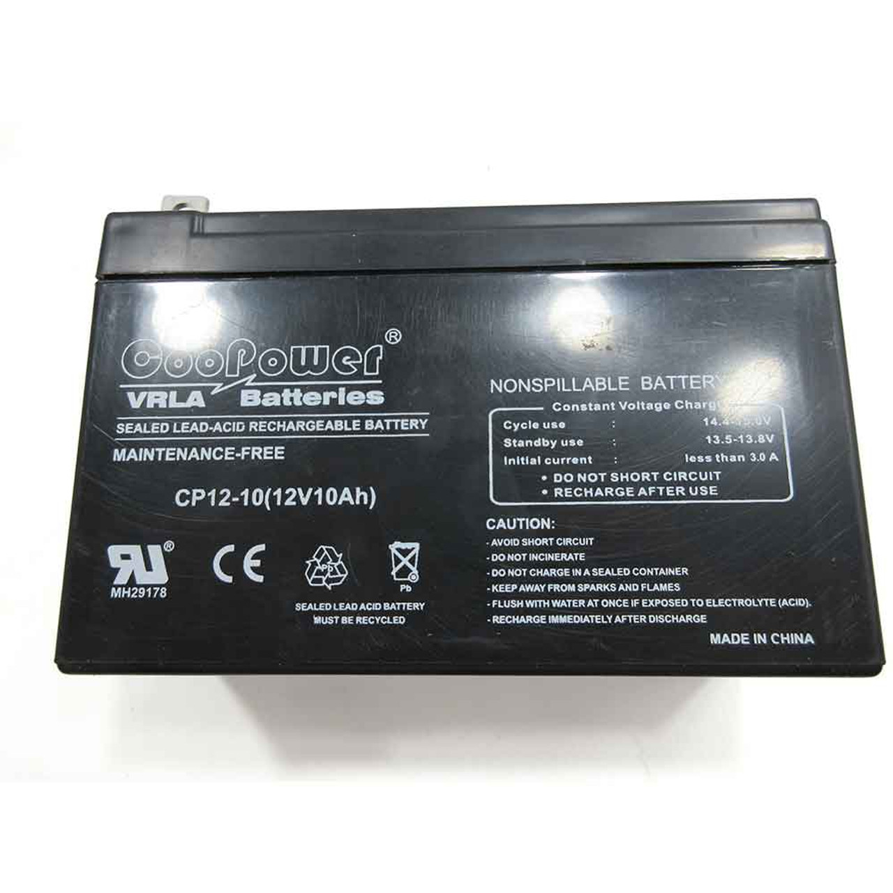 Generac 0G9449 Generator Battery 12V 10Ah Sealed Lead Acid