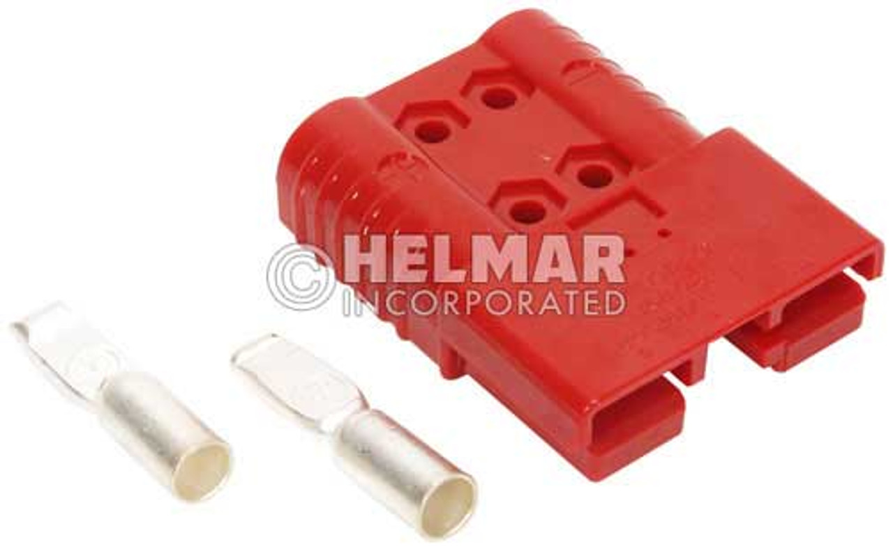 6378G1 Original Anderson SBX Connectors, Housing with Spring, Two Contacts and Auxiliary Contact 175 AMP, 1/0 Red