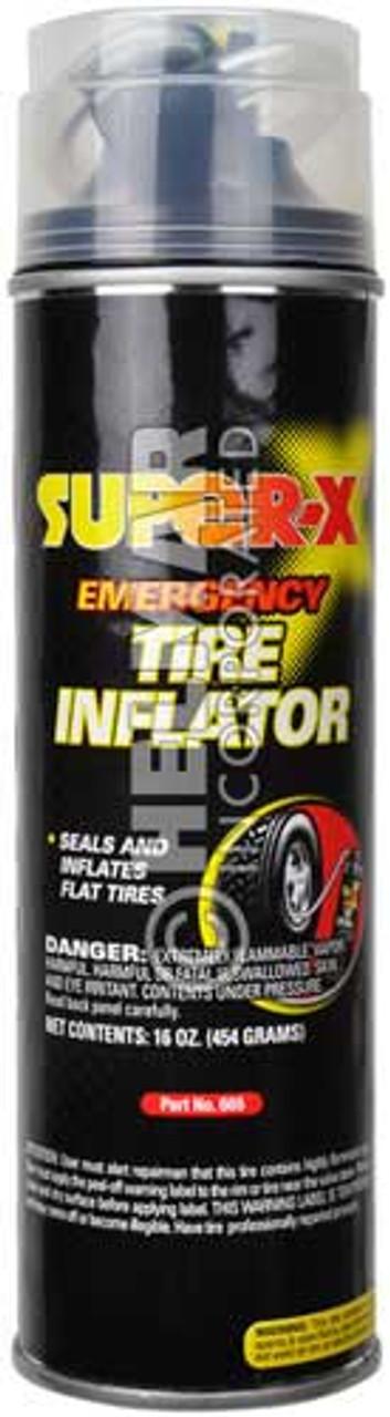 SX-665 Super-X Emergency Tire Inflator With Hose, 16oz