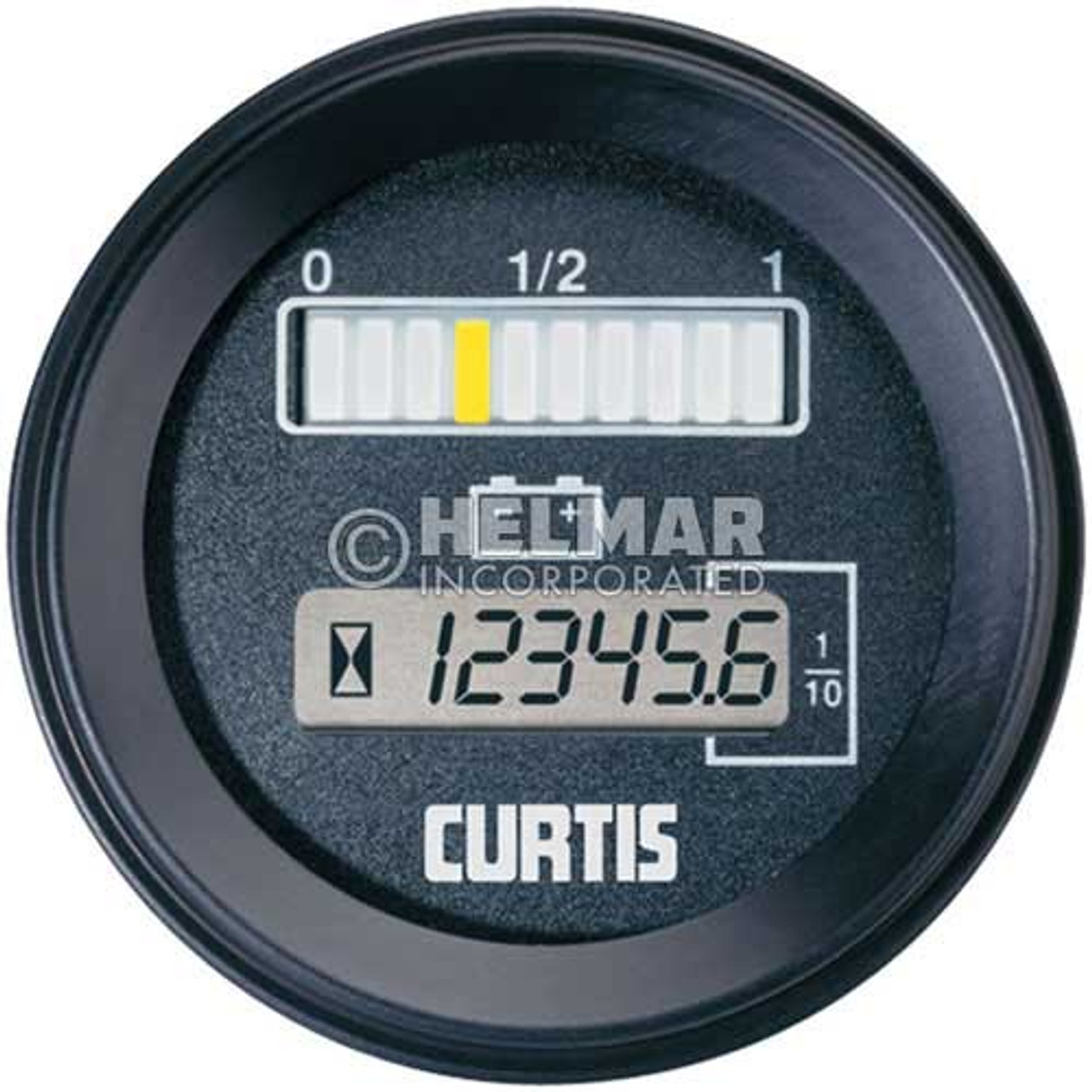 803RB2448BCJ Curtis Battery and Hour Gauge Model 803 Dimensions with Lift Lockout, 24/48 Volt