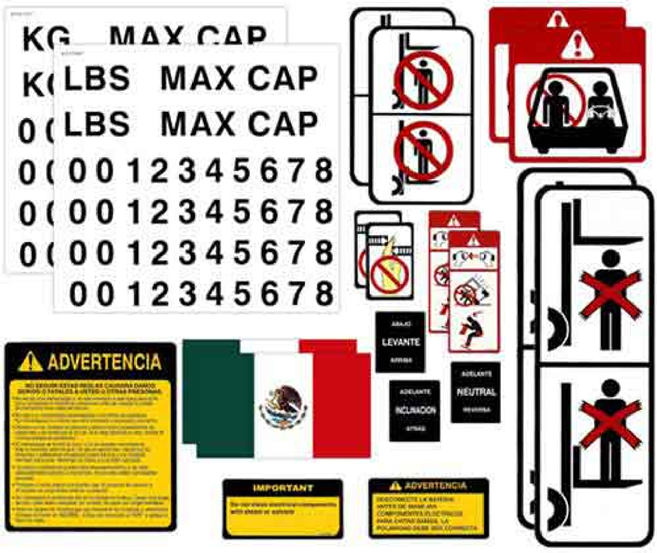 DECAL-KIT-SPANISH Universal Sticker