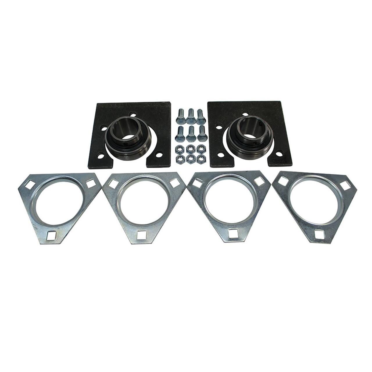 "1-1/4"" Standard Live Axle Bearing Kit, 3-Hole Flangettes"