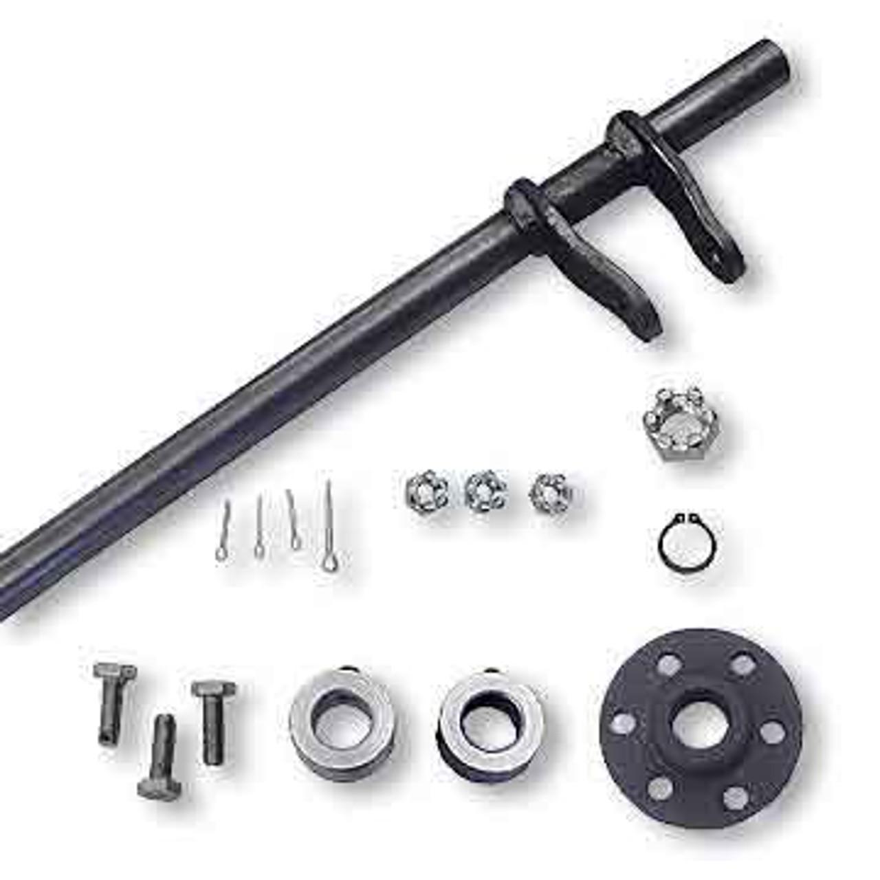 "Steering Shaft, 5/8"" OD & Hub Kit, Welded Pitman Arms, 28"" Length"