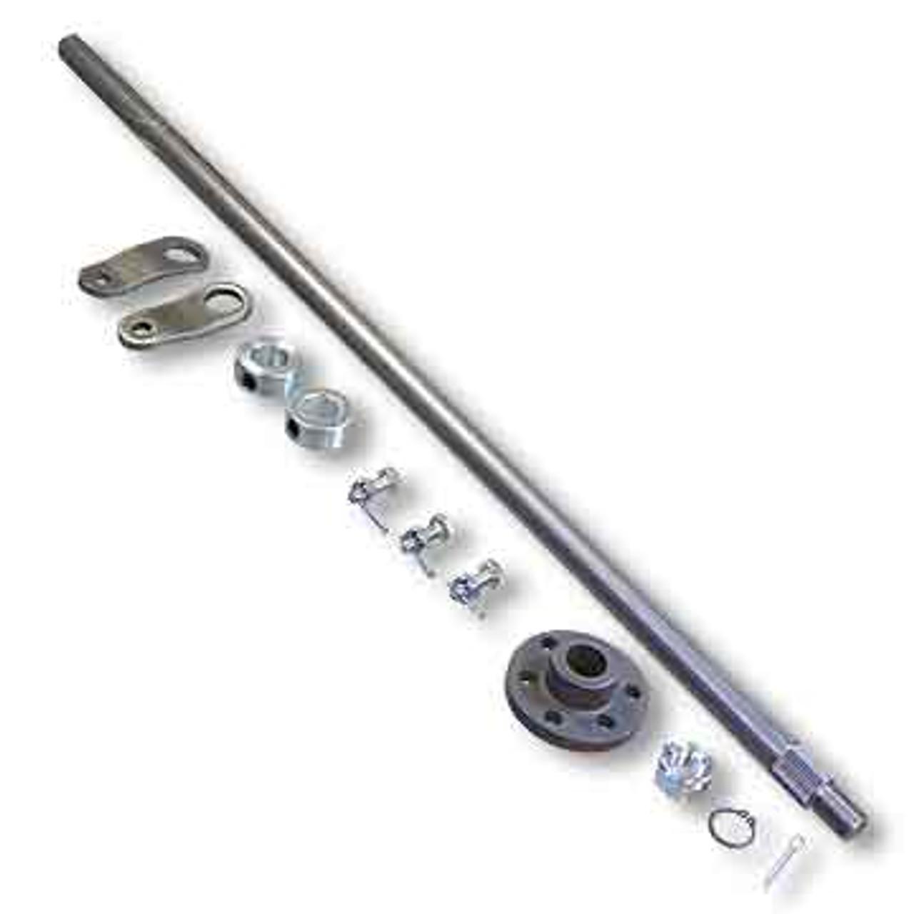"Steering Shaft, 5/8"" OD & Hub Kit, Unwelded Pitman Arms, 28"" Length"