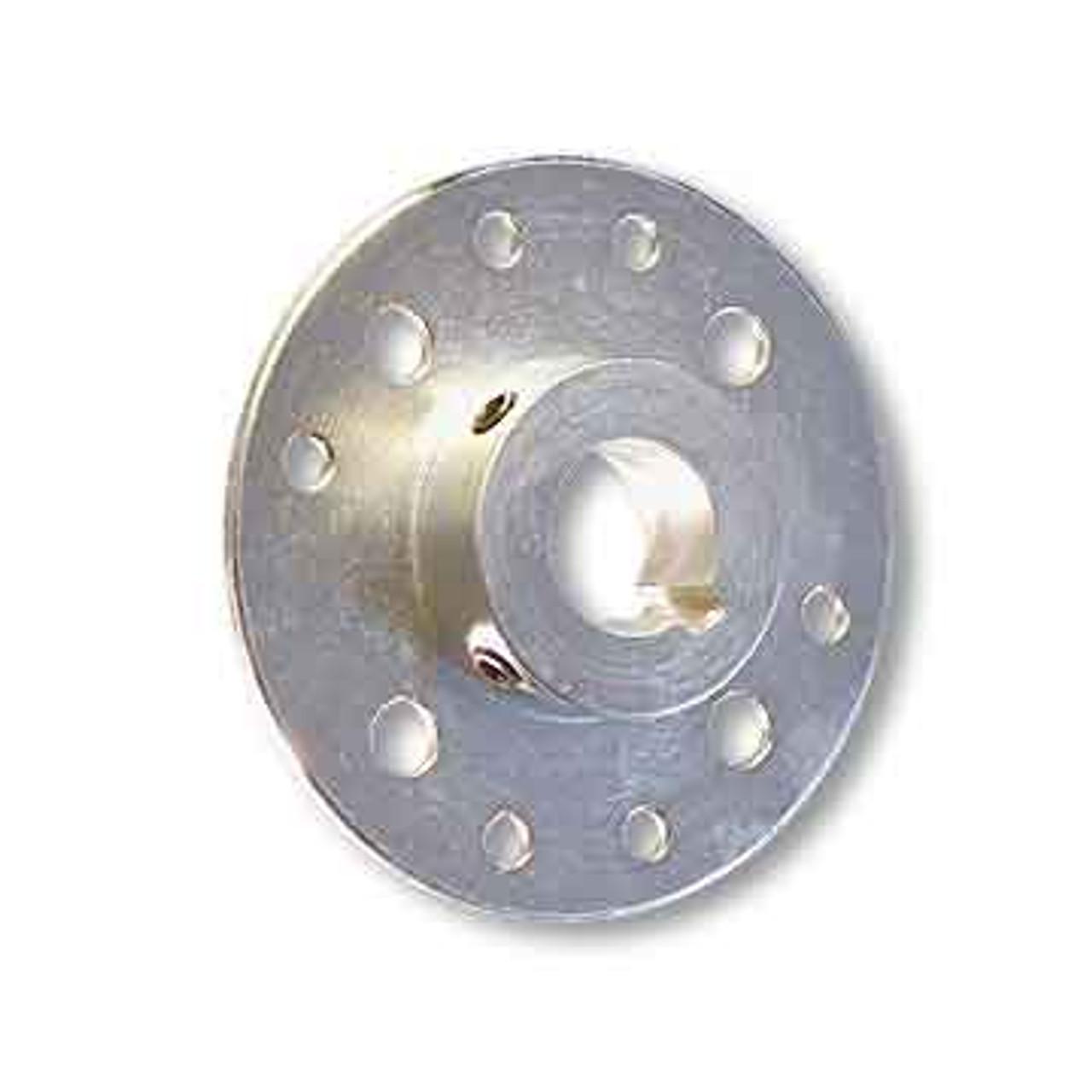 "Mini-Hub, Steel, Zinc Plated, 1-1/4"" Bore, Set Screws Only"