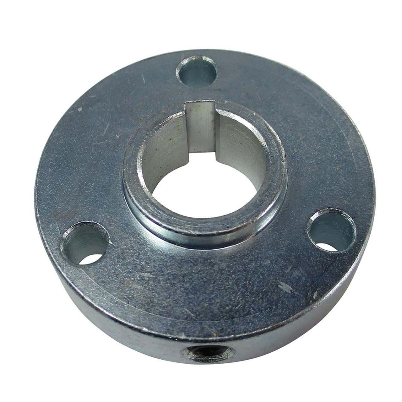 "Hub, Steel, 2-1/8"" OD, 3/4"" Bore, 1/2"" Thick, 3/16"" Keyway, 3 Hole On 1-11/16"" Bolt Circle, (P5256 Pattern)"
