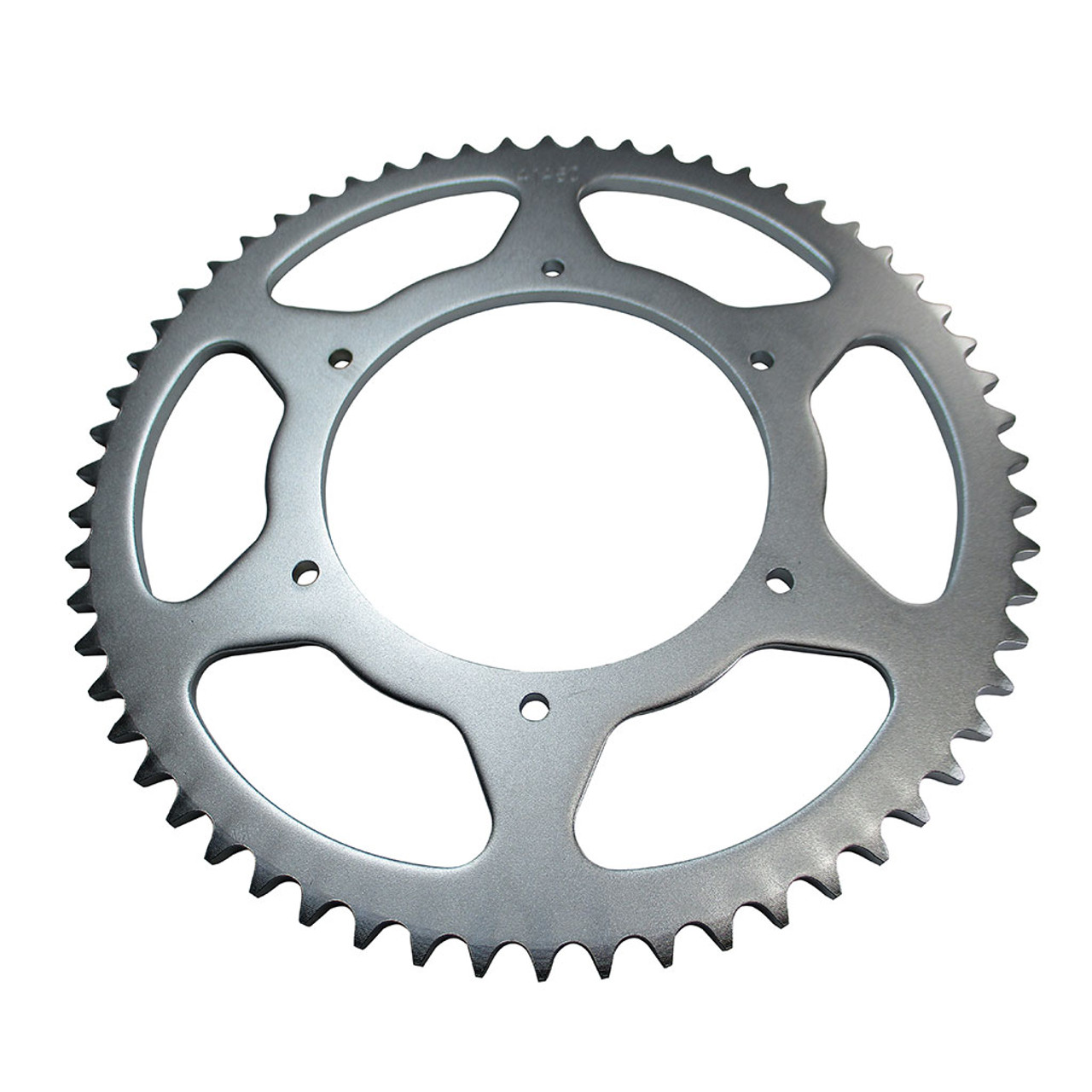 """60 Tooth Steel Sprocket 40 41 420 Chain, 4.563"""" Bore, 6 Holes, 5.25"""" Bolt Circle"""