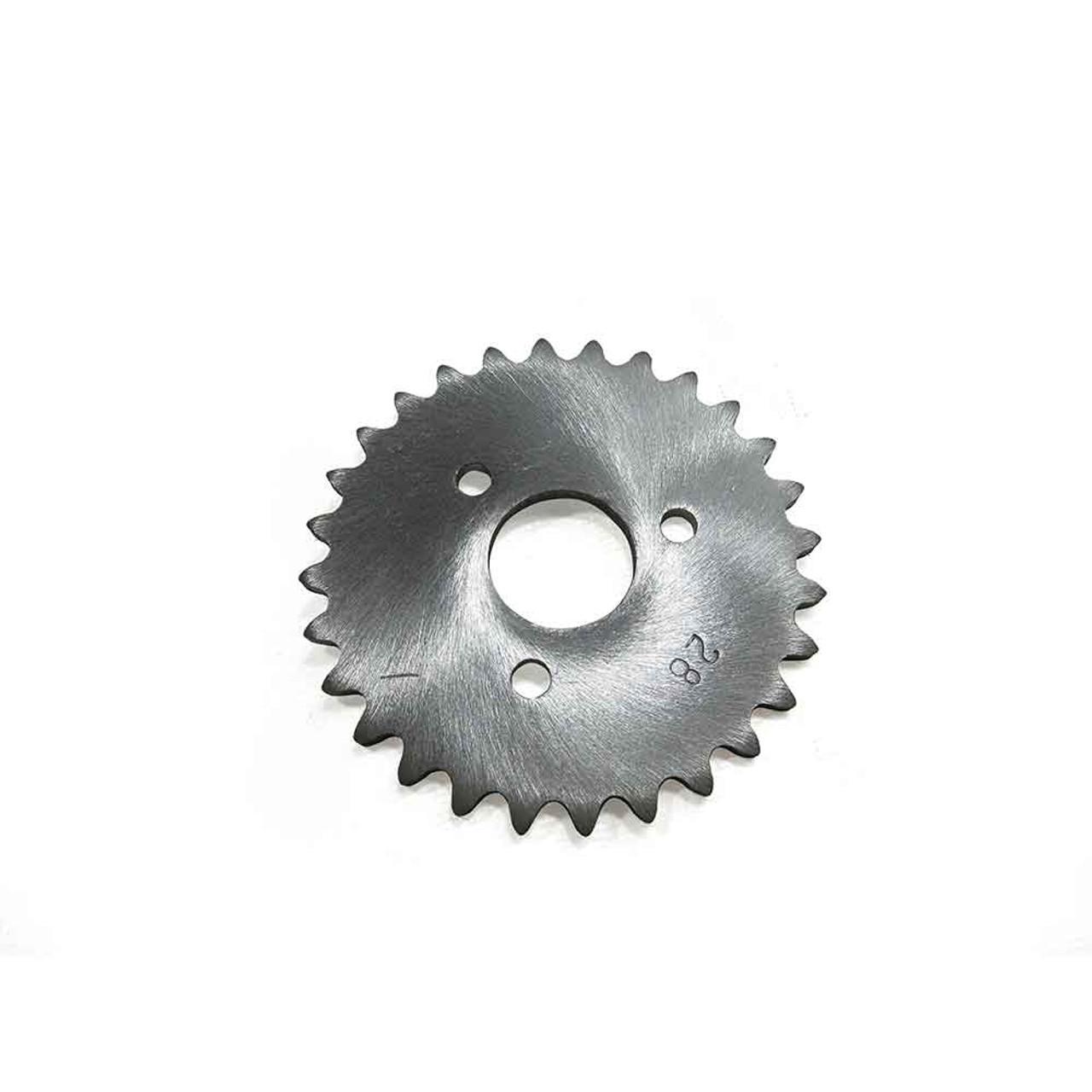 "28 Tooth Sprocket, Aluminum, #35 Chain, P5256 - 1"" Bore, 1.687"" Bolt Circle"