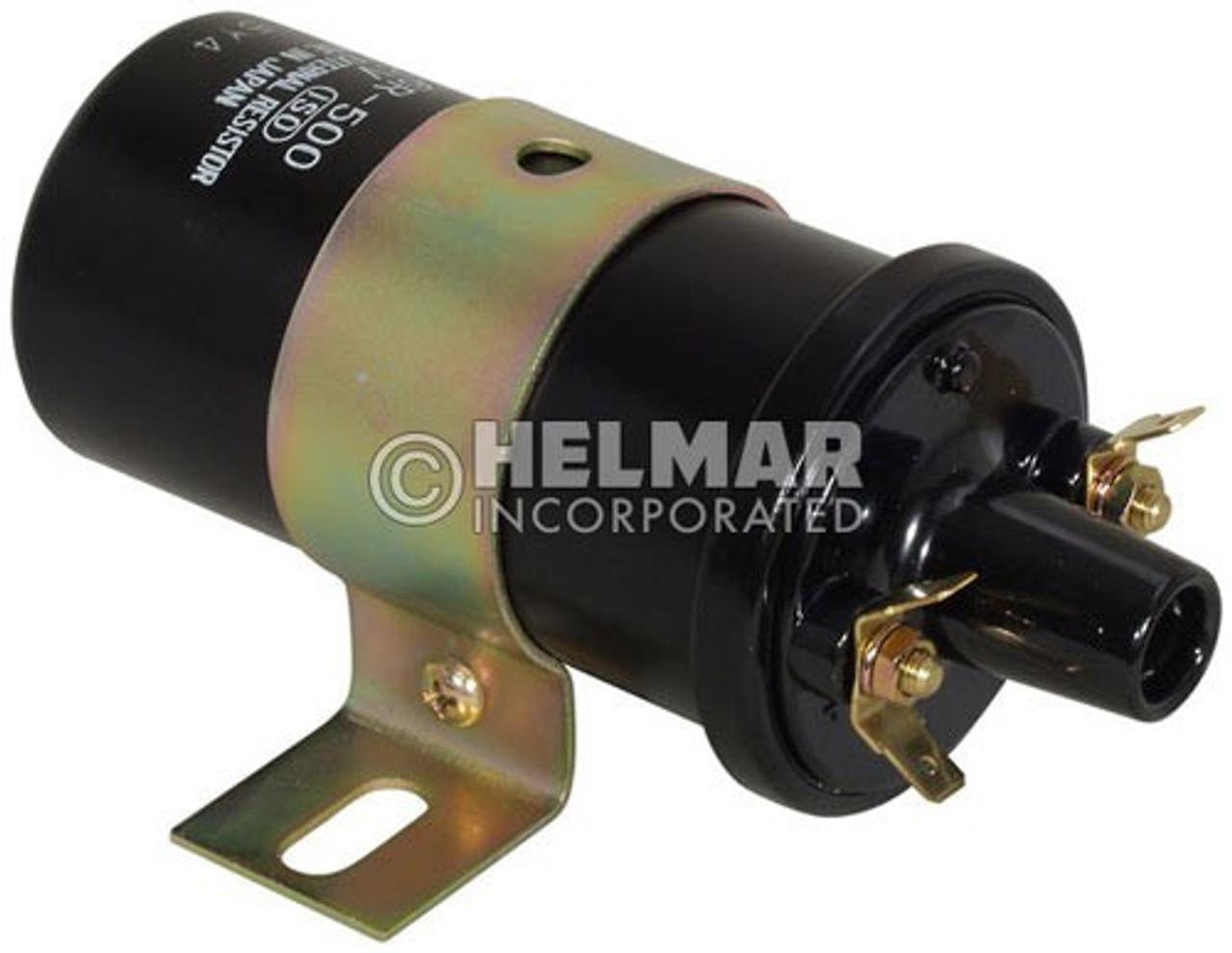 MM115566 Mitsi/Cat Original Hitachi Ignition Coil, 12 Volt External Resistor, Type B