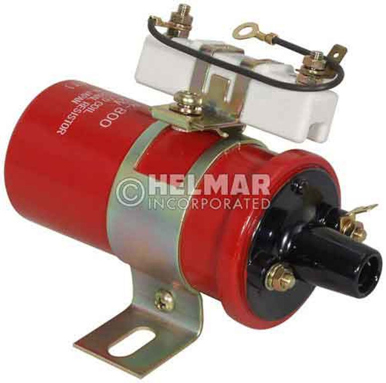 9125654-00 Yale Original Hitachi Ignition Coil, Type C 12 Volt External Resistor Included