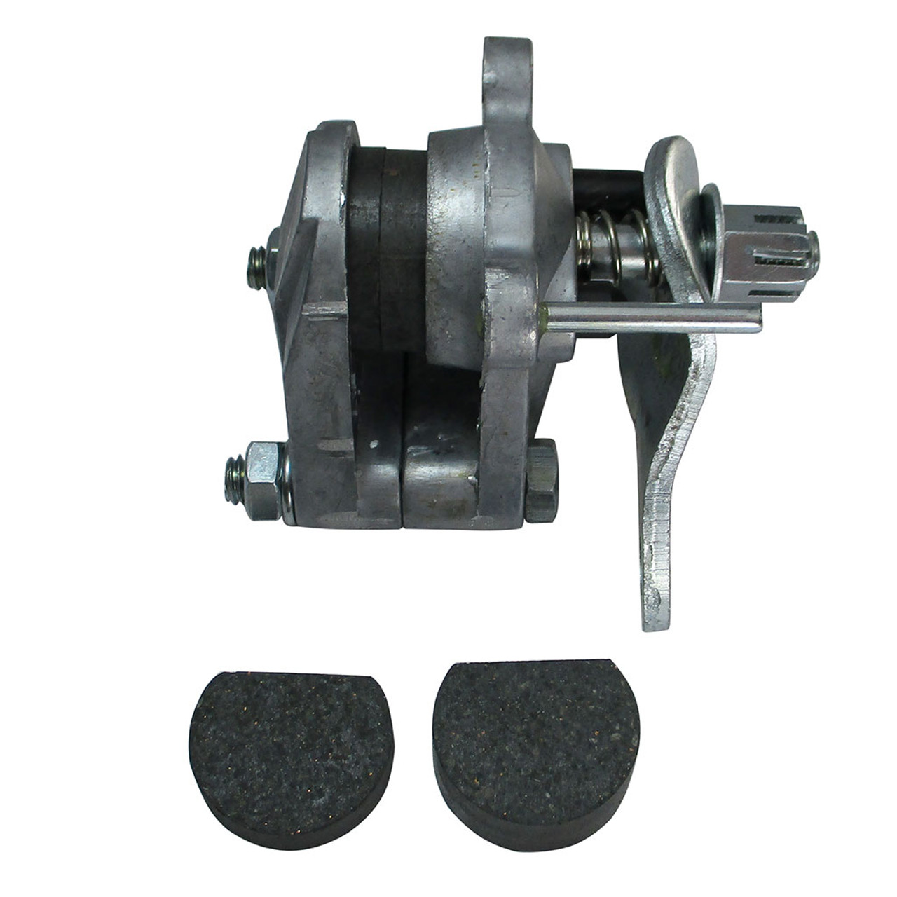 Universal Mechanical Disc Brake Assembly with Replacement Pucks