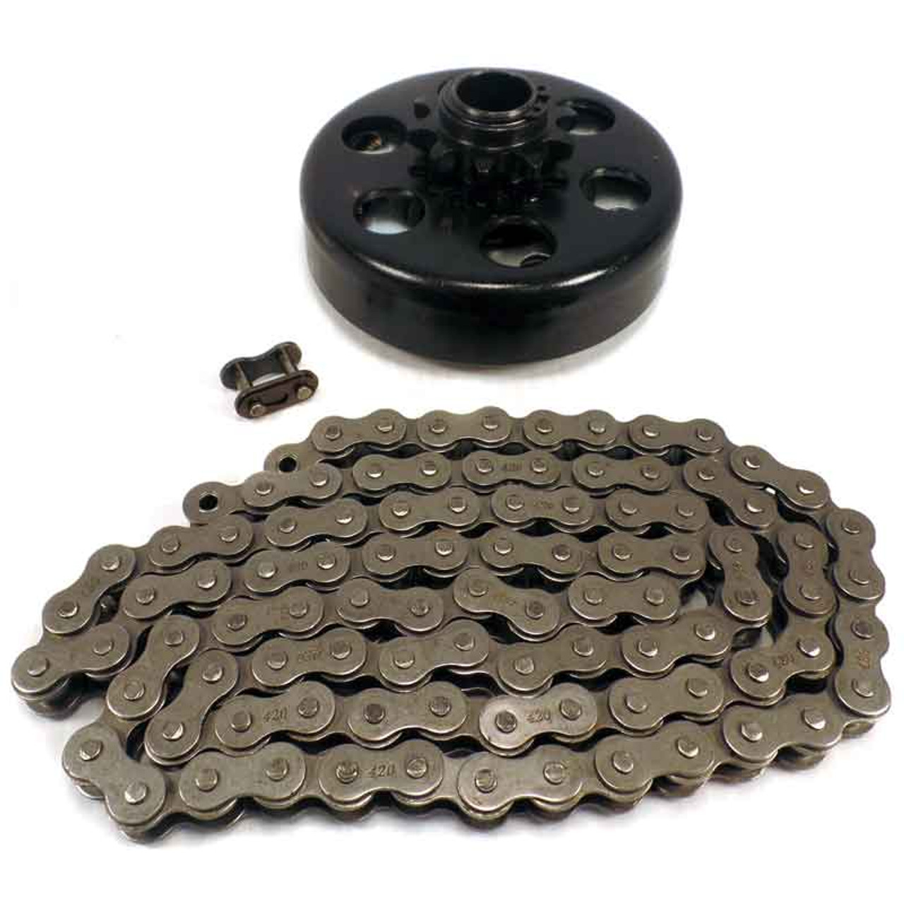 """3/4"""" Clutch 10 Tooth & 5' #40/41/420 Chain"""