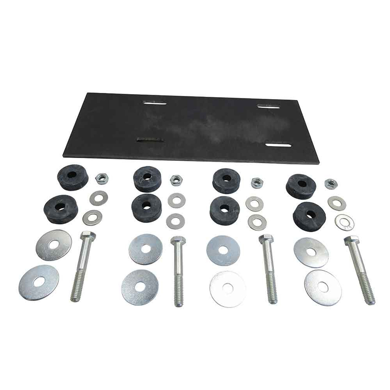 """Deluxe Engine Mounting Kit w/ 5"""" x 12"""" Heavy Plate"""