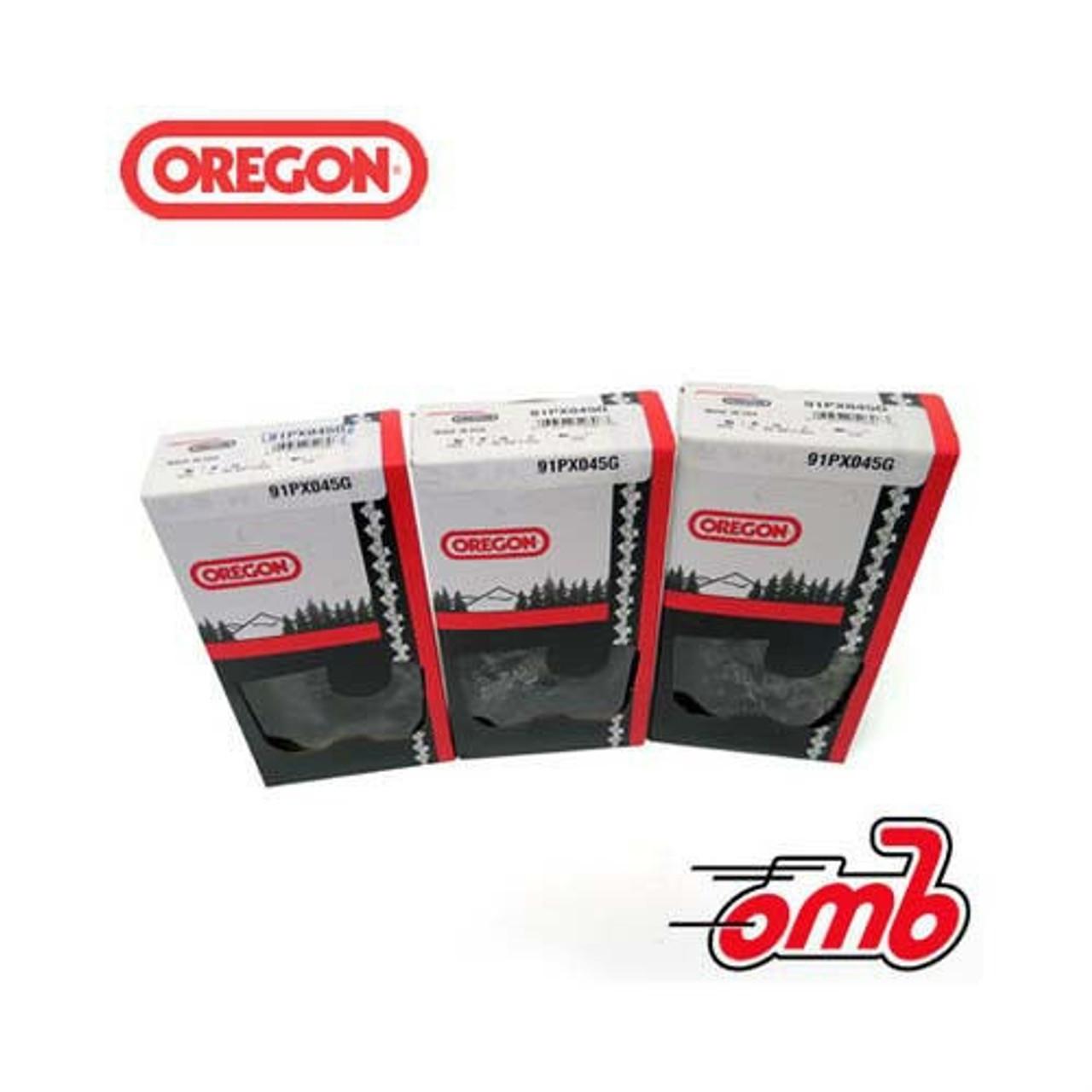 "(3) Loops 12"" Bar Oregon Chain 91PX045G .050 Gauge 3/8"" Pitch Low Kickback"