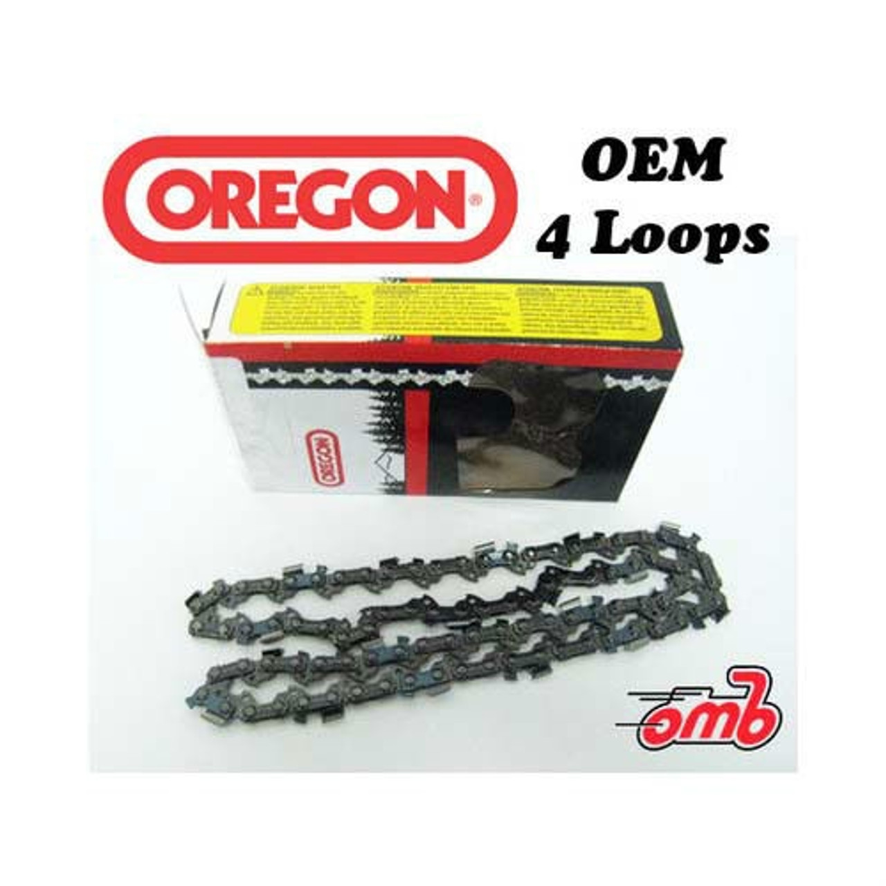 """4 Pack Oregon Chainsaw Chain for 12"""" Stihl MS 193 201 192 200  3/8"""" P .043 44"""