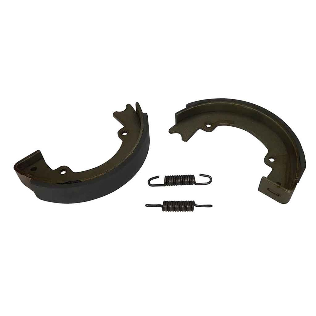 """3/4"""" Wide Lined Replacement Brake Shoes for 4-1/2"""" Brake Assembly With Springs"""