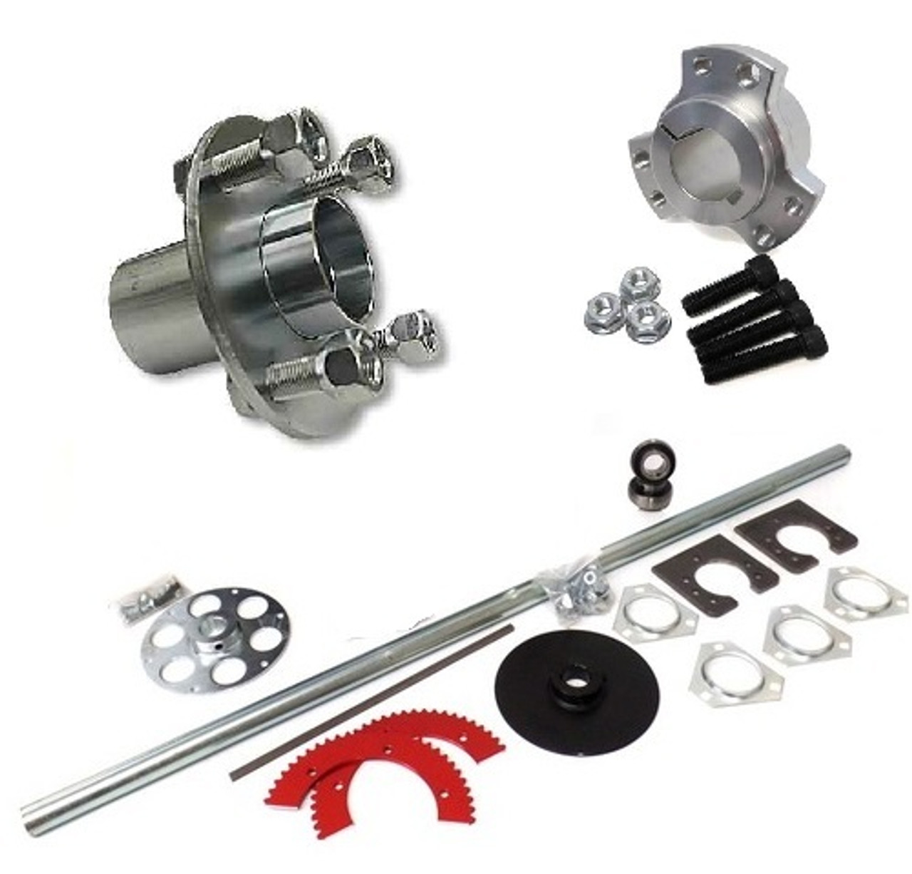 Axles and Hubs for Go-Karts, Drift Trikes, Mini Bikes and More