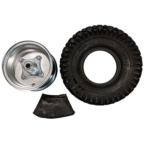 """5"""" Steel Wheel and Tire Package - Studded Tire - Centered Hub"""
