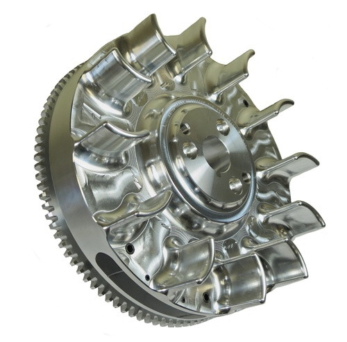 6623-E GX390 Electric/Pull Start Billet Flywheel
