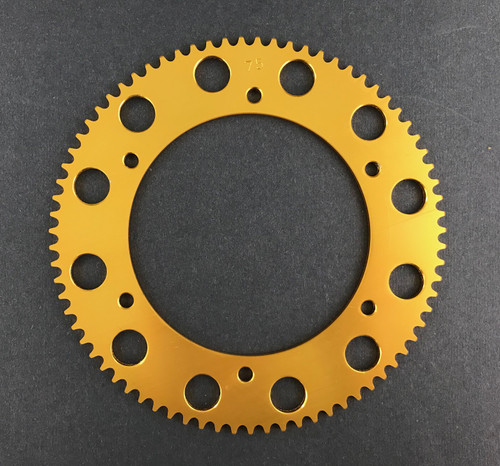 Pit Parts 75T solid sprocket (#219 chain)