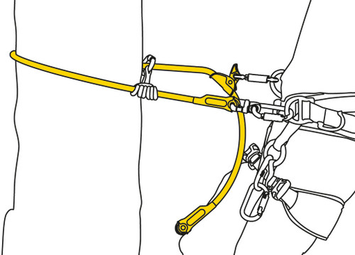 Microflip Reinforced Adjustable Positioning 2.5m Lanyard Replacement By Petzl
