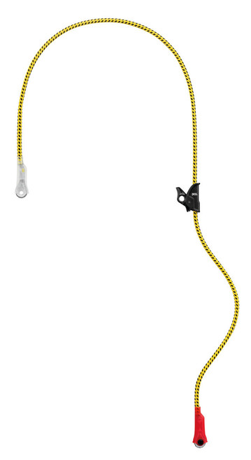 Microflip Reinforced Adjustable Positioning 5.5m Lanyard By Petzl
