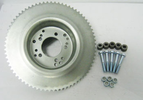 """72 Tooth 35 Chain Sprocket  4-1/2"""" Drum for Astro Wheel w/ Hardware"""