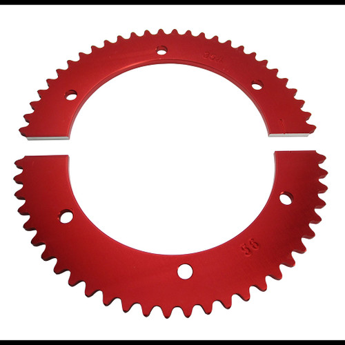 Pit Parts Split Sprocket - 56 Tooth - 35 Chain