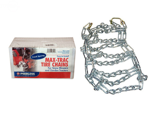 Tire Chains 16 X 6.50 X 8 Maxtrac 2 Link Spacing