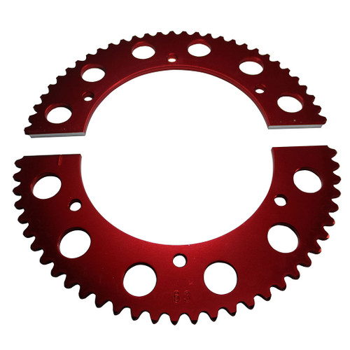 Pit Parts Split Sprocket - 63 Tooth - 35 Chain