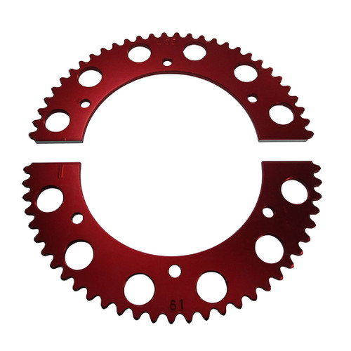 Pit Parts Split Sprocket - 61 Tooth - 35 Chain