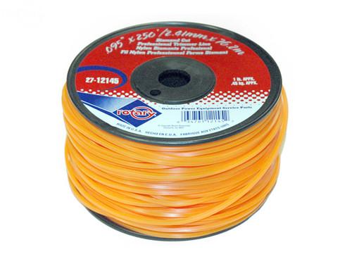 Orange Diamond Cut Professional Trimmer Line .130 x 135' Spool