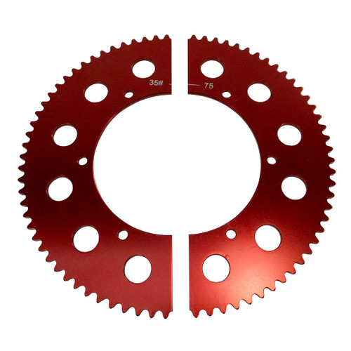 Pit Parts Split Sprocket - 75 Tooth - 35 Chain