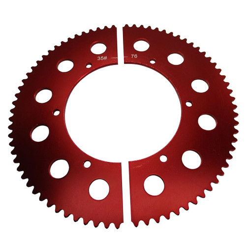 Pit Parts Split Sprocket - 76 Tooth - 35 Chain