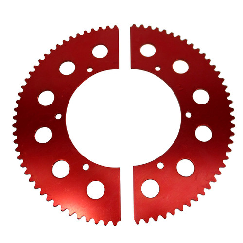 Pit Parts Split Sprocket - 77 Tooth - 35 Chain
