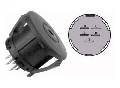 Oregon Ignition Switch 5 Termi Nal 3 Position LT1000 GT1500 ZTR Z-Force 33-106