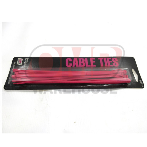 """Hot Pink 8"""" Cable Ties"""