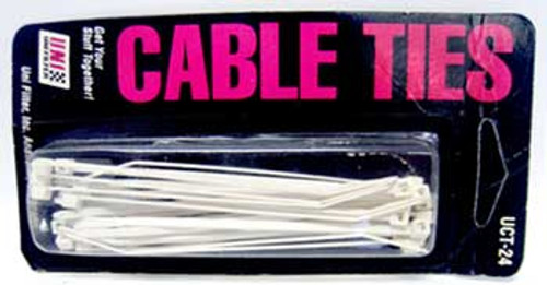 """Hot White 6"""" Cable Ties"""