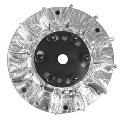 ARC Billet Flywheel, 3 HP Diameter. Finned Adjustable 3.5lb