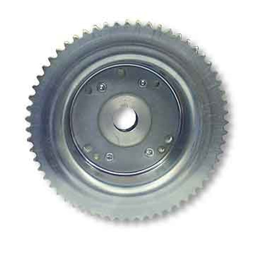 """60 Tooth 35 Chain Sprocket 4-1/2""""  Drum Riveted Mini-Hub 1"""" Bore Machined OD"""