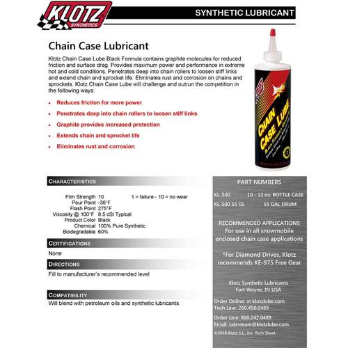 Klotz Hi-Performance Chain Case Lube - 12 oz.