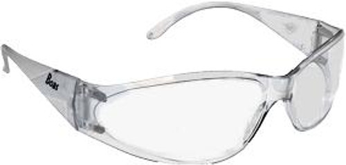 Boas Clear Frame Clear Lens Safety Glasses