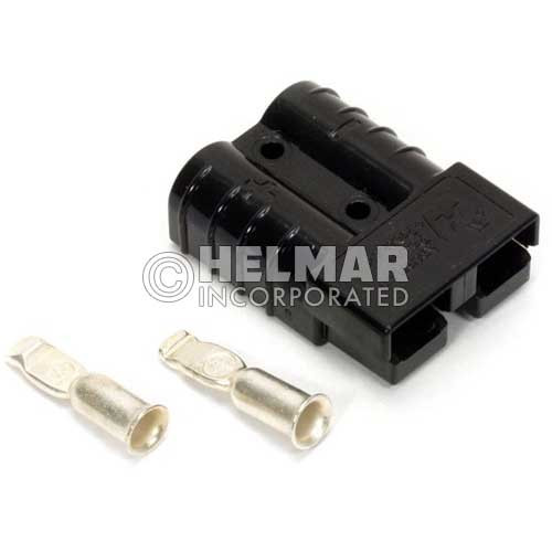 E6363G1 Original Anderson Power SBE Connector, Housing with Springs and Two Contacts, 320 AMP, 2/0 Black
