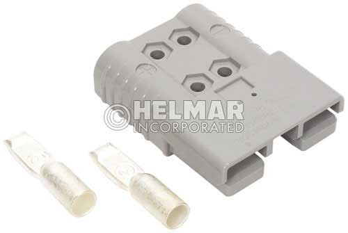 6370G1 Original Anderson SBX Connectors, Housing with Spring, Two Contacts and Auxiliary Contact 175 AMP, 1/0 Gray